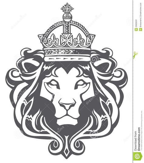 heraldic lion head stock vector illustration of haile