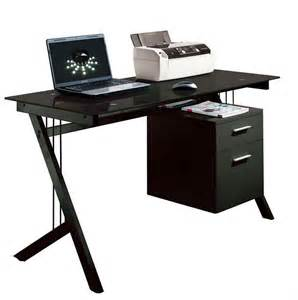 Computer Table Desk Black Glass Computer Desk Pc Laptop Printer Table Home Office Minimalist Desk Design Ideas