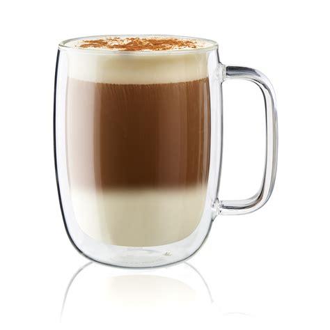 Gelas Latte zwilling sorrento plus 2 pc wall glass latte mug set