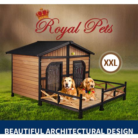xxl dog house for sale xxl outdoor wooden waterproof 2 door dog kennel buy wood dog houses