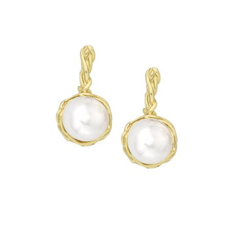 Of Pearl Yellow Earrings stylish yellow gold pearl drop earrings road