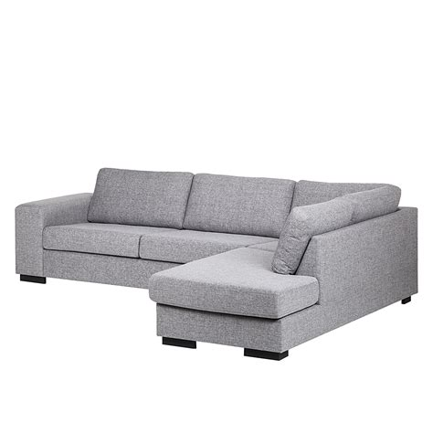 on the couch prince ecksofa strukturstoff grau 3 sitzer sofa couch eckcouch