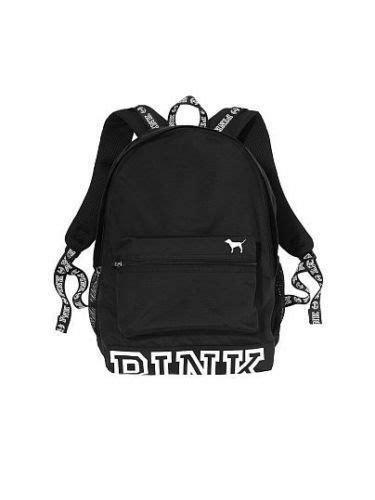 secret pink cus backpack black white back to school collegiate ebay
