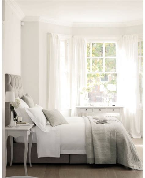 grey white bedroom faded white linen muted greys and dusky pink