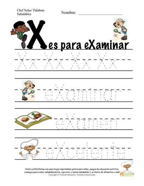 imagenes y palabras con x palabras de nutrici 243 n y ejercicio usando la letra x del