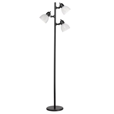globe electric led for 63 in 3 light matte black
