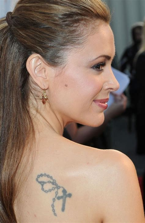 alyssa milano s tattoo alyssa milano has a few tattoos