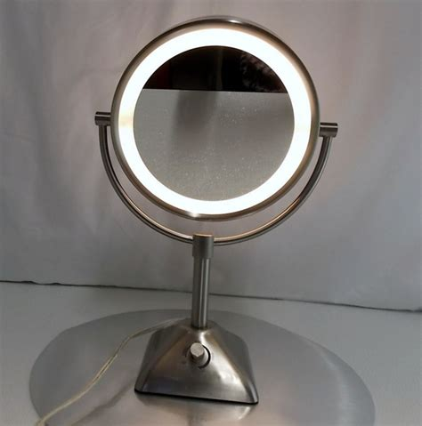 electric lighted makeup mirror conair self standing lighted 10x 1x electric magnification