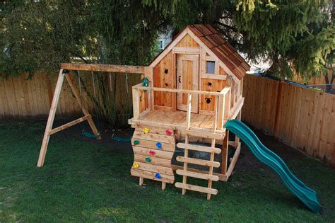 wooden playhouse with swing diy playhouse with swing set plans 2015 best auto reviews