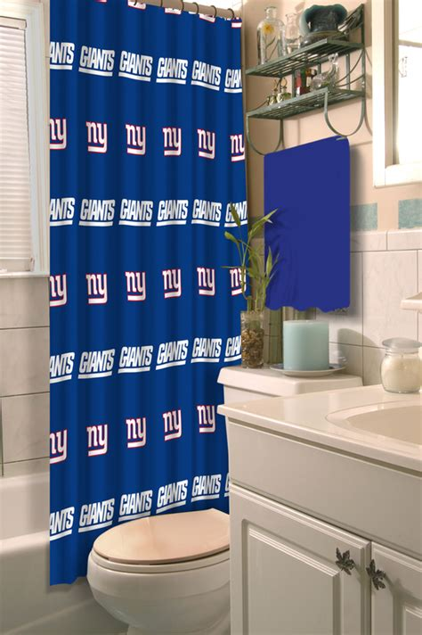 ny giants shower curtain new york giants shower curtain