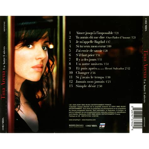 un autre univers tina arena mp3 buy tracklist