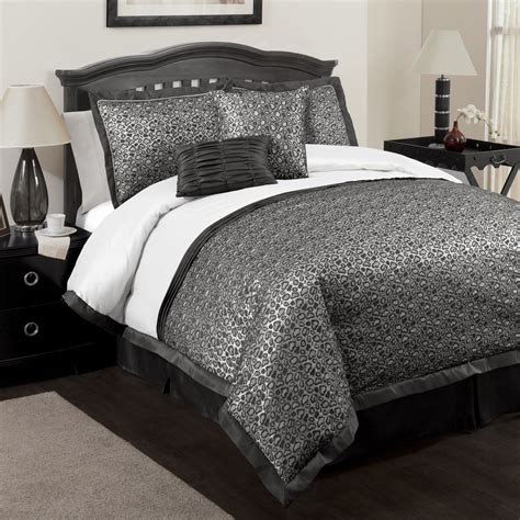 6pc lush decor king comforter set gold brown leopard faux