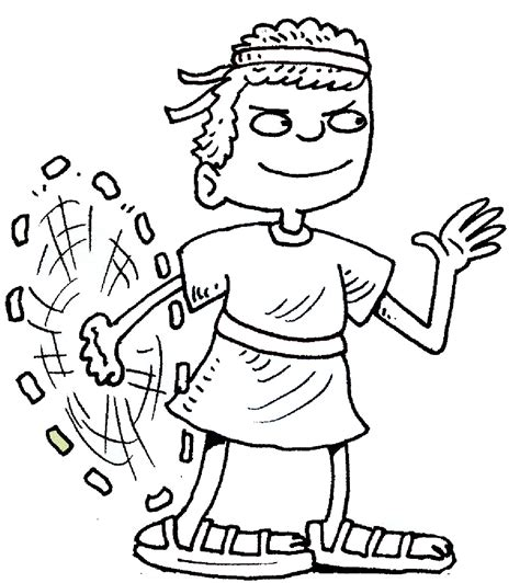 preschool coloring pages david and goliath free coloring pages of pictures of goliath