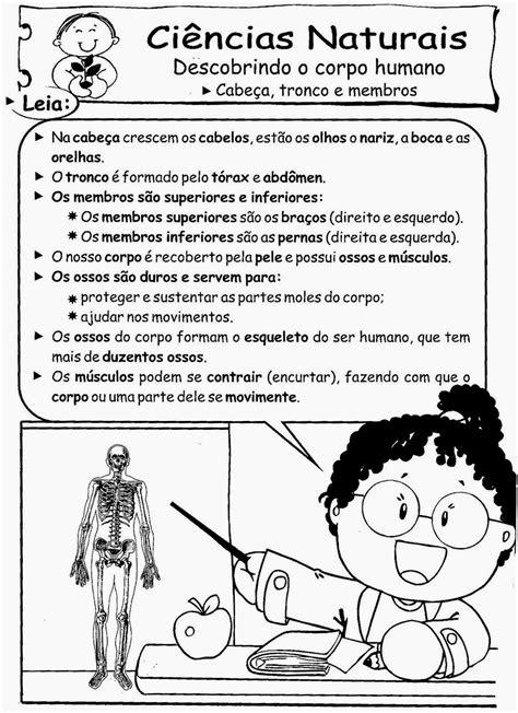 Educa X: Atividades ciências 2 ano corpo humano