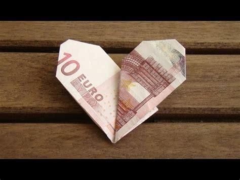 geldscheine falten herz geldgeschenke zur hochzeit