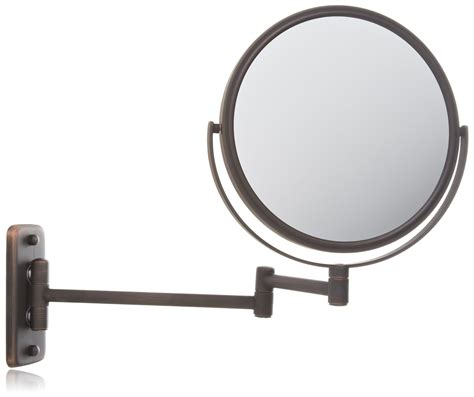 jerdon lighted magnifying mirror jerdon jp7506bz 8 inch wall mount makeup mirror with 5x