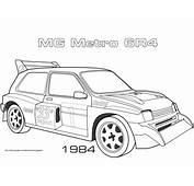 1984 MG Metro 6R4 Coloring Page  Free Printable