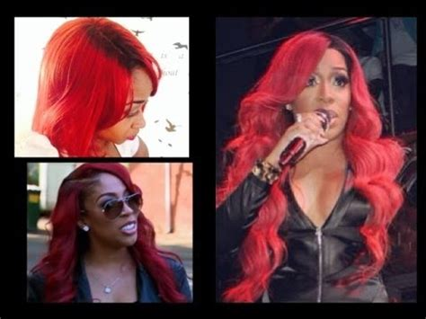 k michelle red inspired wig how to get black roots on lacefront wig diy nelly red