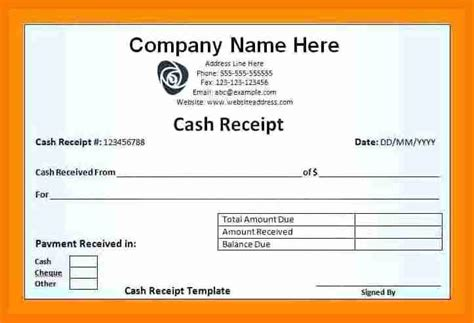Receipt Voucher Template Excel by 5 Salary Voucher Format Simple Salary Slip