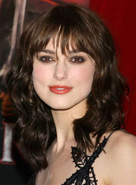 images medium length curly hair with fringe curly fringe hairstyles