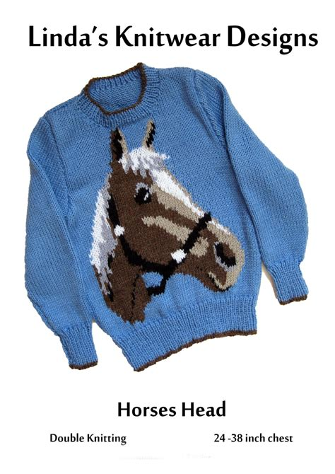 knitting pattern horse motif childrens and adult horses head motif sweater knitting