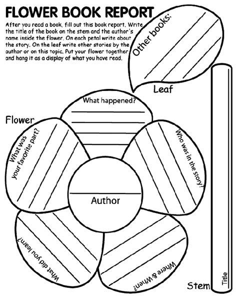 Printable Book Report Template Flower Book Report Crayola Co Uk