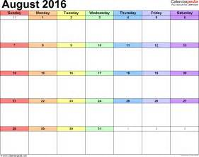 Template For Calendar by August 2016 Calendars For Word Excel Pdf