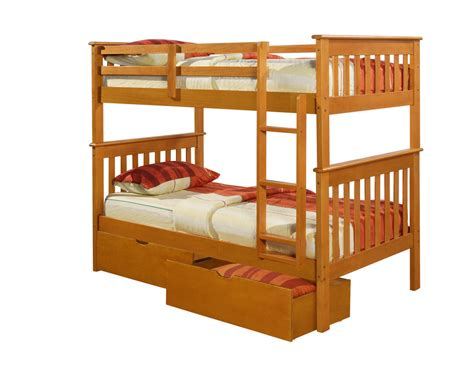 bunk beds with mattresses twin mission bunk bed honey bunkbeds beds ebay