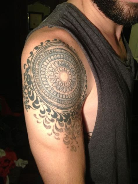 mandala tattoo masculine mandala shoulder tattoo designs ideas and meaning