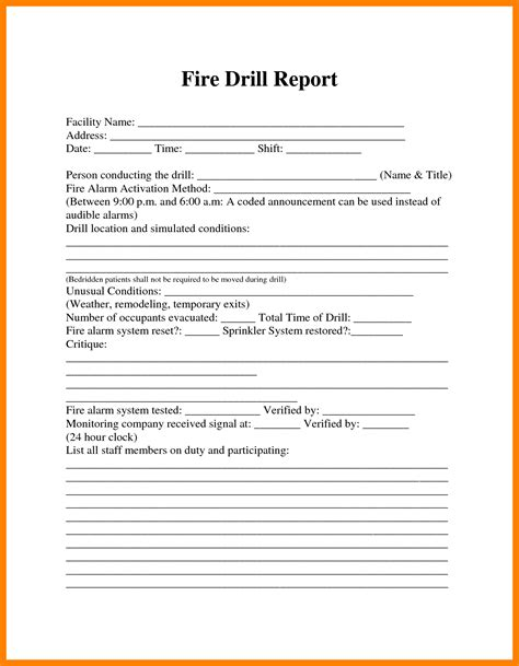 Fire Alarm Report Templates