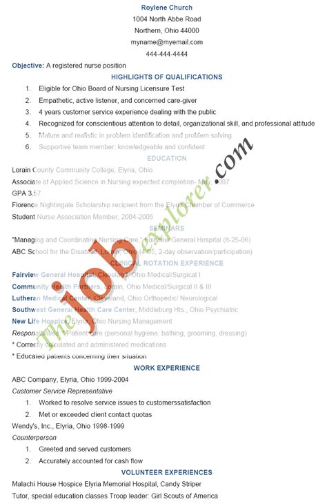 Registered Nurse Resume Objective Samples