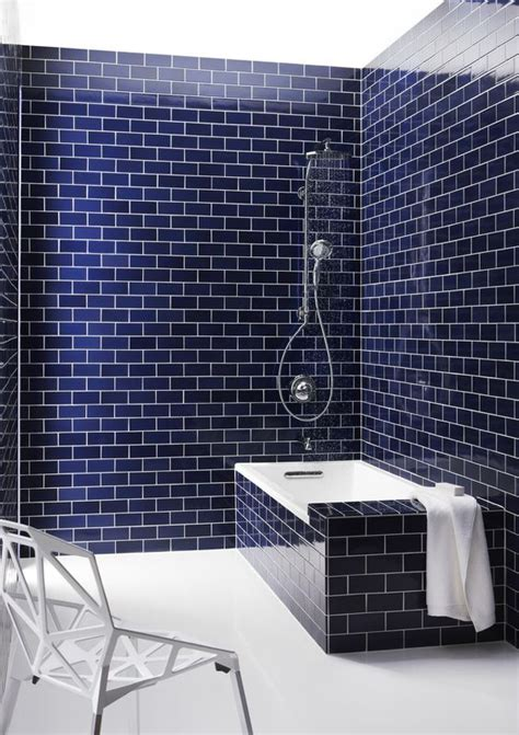 navy bathroom tiles 33 chic subway tiles ideas for bathrooms digsdigs