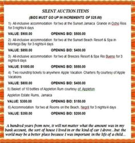 silent auction catalog template 1000 images about benefit ideas on silent