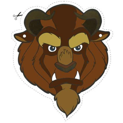 e bestia disegno di maschera della bestia da ritagliare a colori
