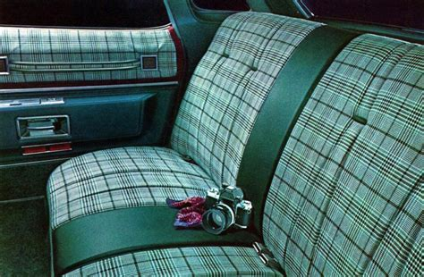 plaid vinyl upholstery 1976 cadillac interior trim