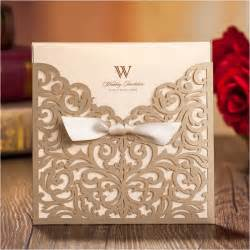aliexpress buy high class wedding invitations 2015 brown personalized laser cut card