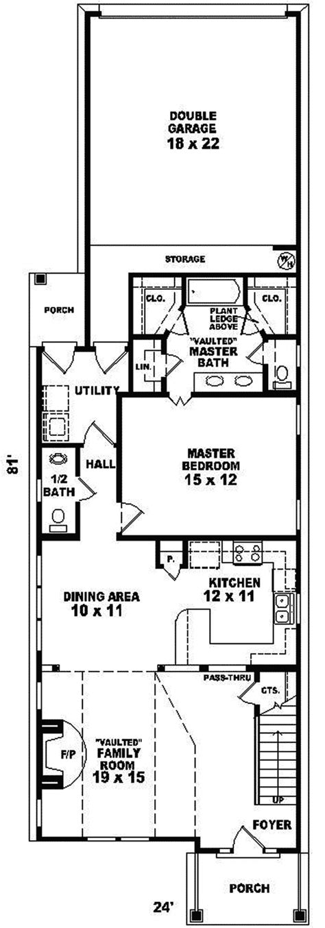 narrow lake house plans fontana park narrow lot home plan 087d 0088 house plans
