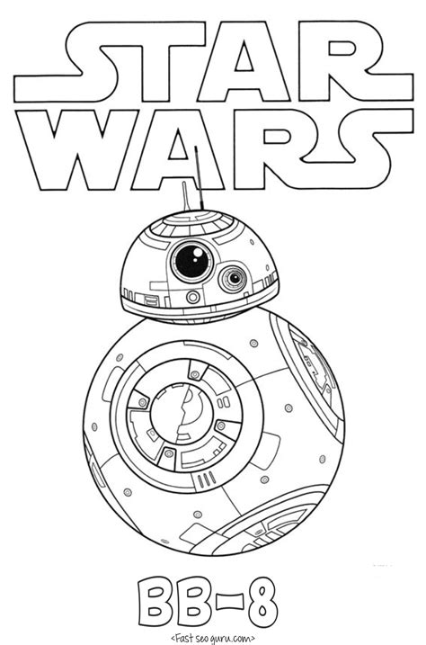 printable pictures star wars printable star wars the force awakens bb 8 coloring pages