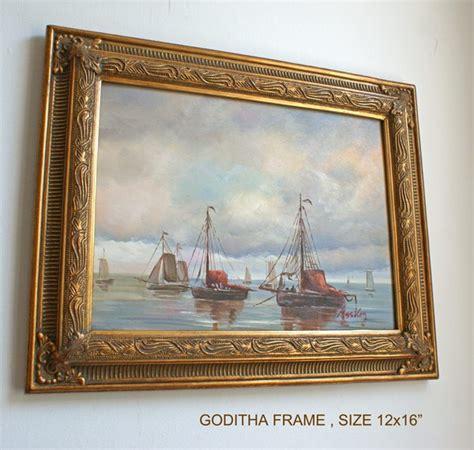 frame design ltd 2 quot gold decorative swept frame quot goditha quot fluted design