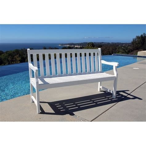 white benches outdoor bradley outdoor bench in white v1627