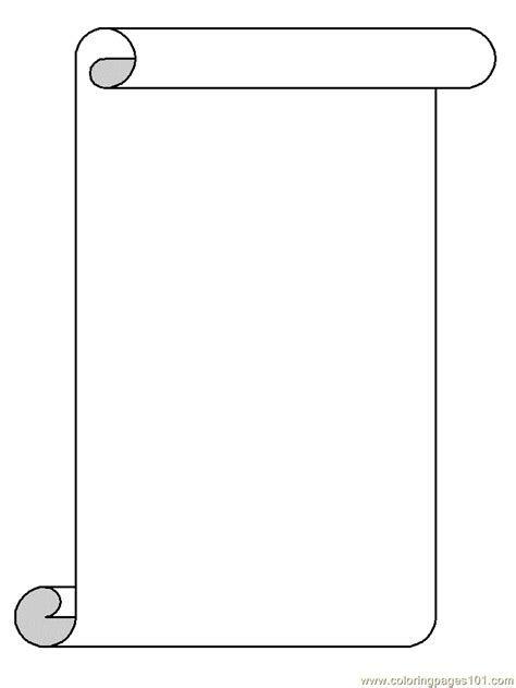 Scroll Page Border Cliparts Co Scroll Coloring Page