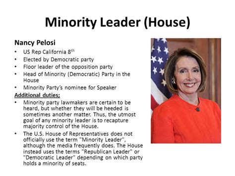 who is the house minority leader leadership in congress ppt download