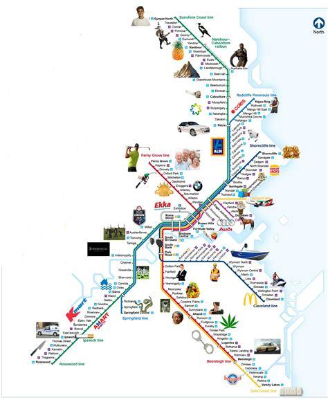 map  brisbane train lines