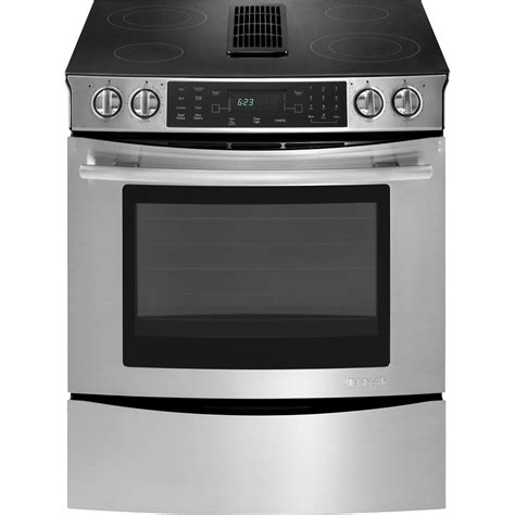 Convection Cooktop Slide In Electric Downdraft Range With Convection 30