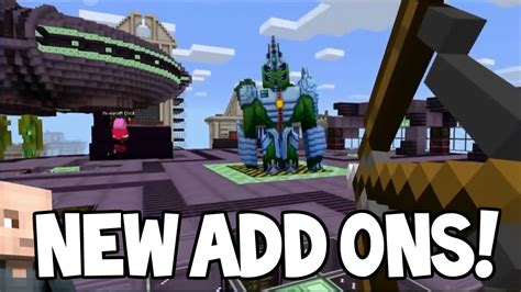 mcpe game console mod mcpe addons minecraft pocket edition new addons