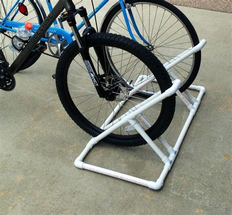 diy bike rack pvc bike rack made of pvc inspiration