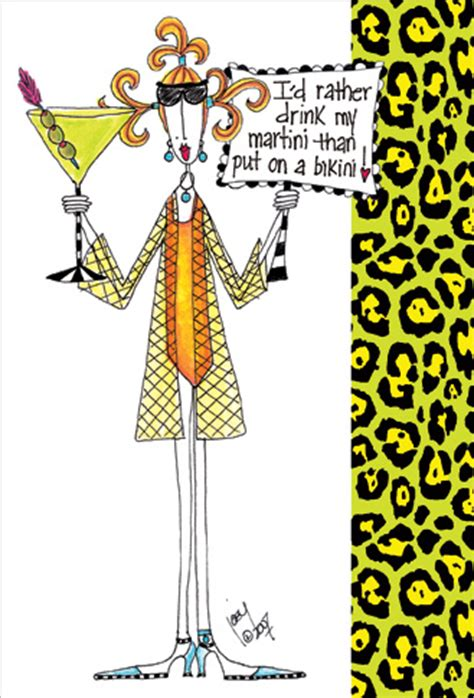 martini birthday card rather a martini 1 card 1 envelope dolly mama funny