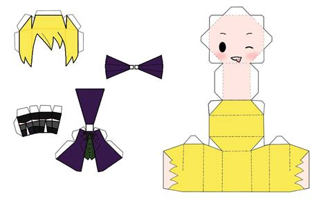 Chibi Papercraft Maker - chibi alois trancy papercraft by themistressofanime on
