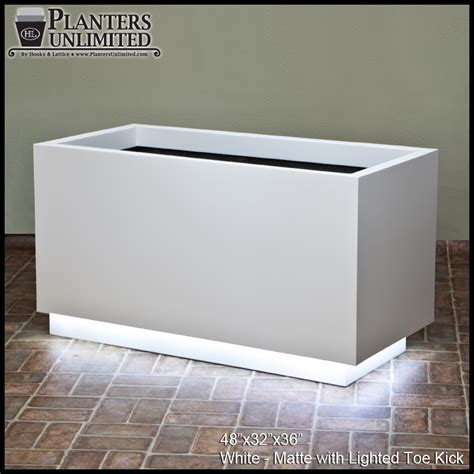Light Planters by Modern Fiberglass Illuminated Planters Planters Unlimited