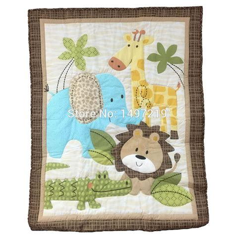 Animal Patchwork Quilt Patterns - aliexpress buy zoo animal pattern crib quilts for